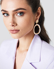 NA-KD Accessories Oval Pearl Framed Earrings