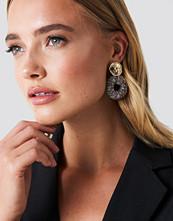 NA-KD Accessories Wrapped Hanging Hoop Earrings