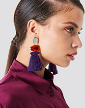 Trendyol Stone Tassel Earrings lila