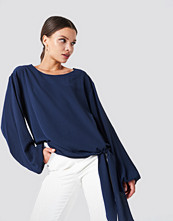 Rut&Circle Amera open Sleeve Blouse blå
