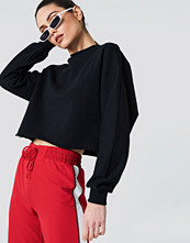 NA-KD Raw Hem Batwing Sweatshirt