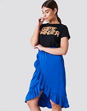 Rut&Circle Satin Frill Skirt - Midikjolar