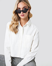 NA-KD Trend Raw Hem Denim Shirt