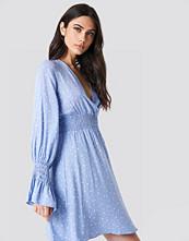 Trendyol Elastic Waist LS Dress blå