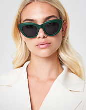 NA-KD Accessories Cat Eye Sunglasses grön