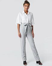 Mango Paper Trousers grå