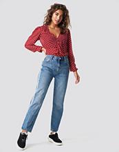 Mango Straight Panel Jeans