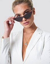 NA-KD Accessories Pointy Cat Eye Sunglasses röd