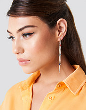 NA-KD Accessories Rhinestone Back Chain Earrings multicolor