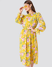 Trendyol Summer Flowered Midi Dress gul