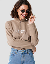 NA-KD Front Zipper Sweatshirt brun beige