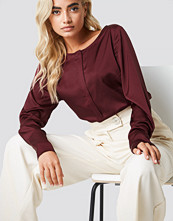 Rut&Circle Front Placket Blouse röd