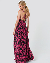 Trendyol Flower Printed Maxi Dress - Maxiklänningar