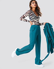 NA-KD Classic Wide Leg Tailored Pants blå