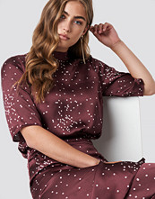 Rut&Circle Dotty Short Sleeve Blouse röd