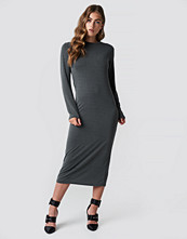 Rut&Circle Polo Midi Dress grå