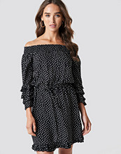 Trendyol Frill Dotted Mini Dress