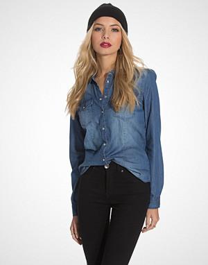 Only skjorte, onlALWAYSROCK It Fit L/S Shirt Wvn