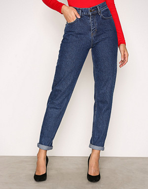 NLY Trend jeans, Dark Blue Denim High Waist Vintage Denim