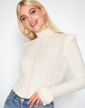 Polo Ralph Lauren genser, Ruffle Long Sleeve Sweater