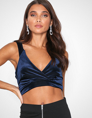 Missguided singlet, Shiny Velvet Co Ord Bralet