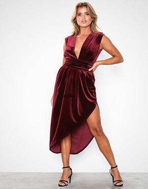 Honor Gold kjole, Haven Velvet Midi Dress