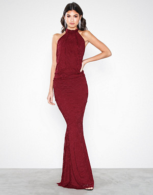 Honor Gold kjole, Sophia Lace Maxi Dress Berry