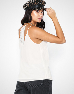 New Look singlet, Button Lace Back Cami