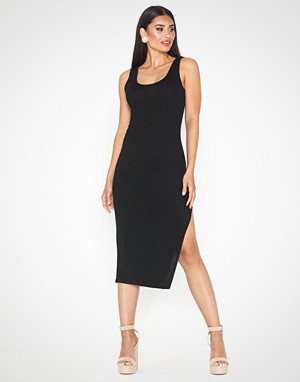 Parisian kjole, Thigh Split Bodycon Midi Dress