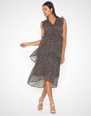 Neo Noir kjole, Selma Crepe Chiffon Dress
