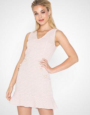 Parisian kjole, Boucle Button Detail Dress