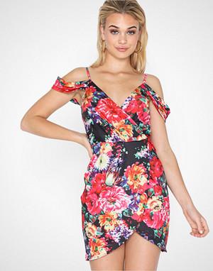 Parisian kjole, Floral Wrap Dress