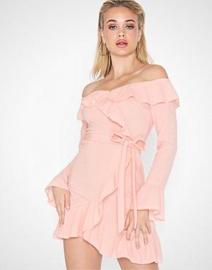 Parisian kjole, Off Shoulder Frill Mini Dress