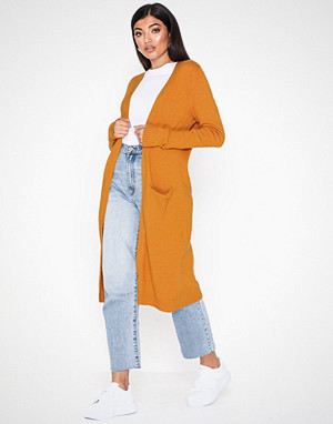 Vila kardigan, Viril L/S Long Knit Cardigan-Noos Orange