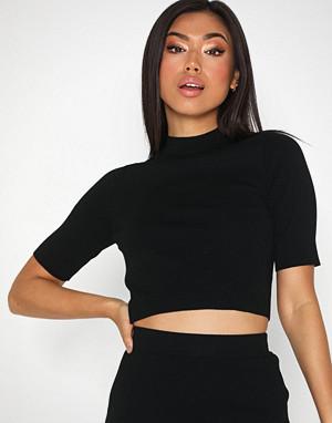 Noisy May T-skjorte, Nmelliott S/S Cropped T-Neck Knit 4