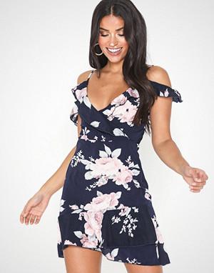 Parisian kjole, Floral Cold Shoulder Mini Dress