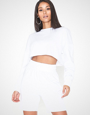 Missguided jumpsuit, Crop Sweater Cycling Shorts Set