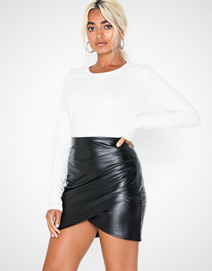 NLY One skjørt, Leather Look Wrapped Skirt