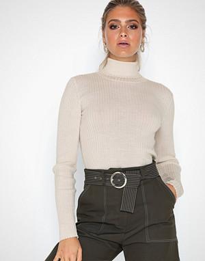 Selected Femme genser, Slfcosta Ls Knit Rib Rollneck B