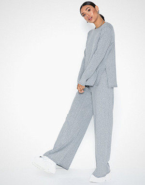 NLY Trend jumpsuit, Wide Rib LS Set