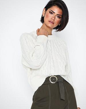 Selected Femme genser, Slfvalentina Ls Knit Cropped O-Neck