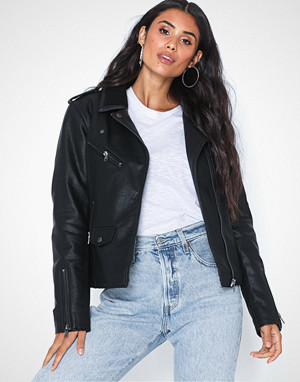 Only jakke, Onltaylor Faux Leather Biker Otw