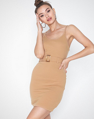 Missguided kjole, Rib Cami Tortoiseshell Dress