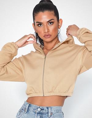 NLY Trend collegegenser, Cropped Zip Hoodie