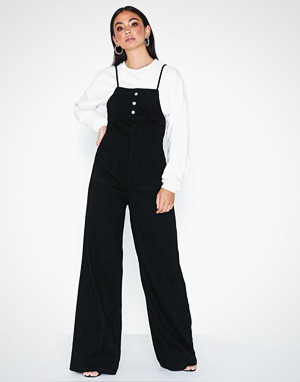 Missguided jumpsuit, Lace Back Detail Denim Jumpsuit