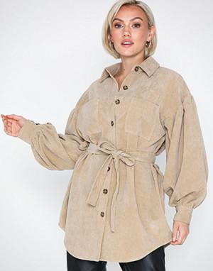 NLY Trend skjorte, Belted Corduroy Shirt
