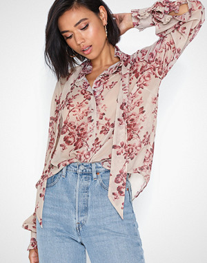 NLY Trend bluse, Cute Tie Blouse
