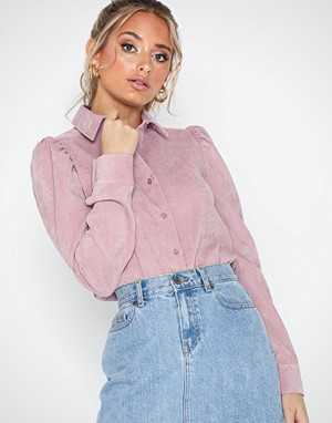 NLY Trend skjorte, Puff Sleeve Corduroy Shirt