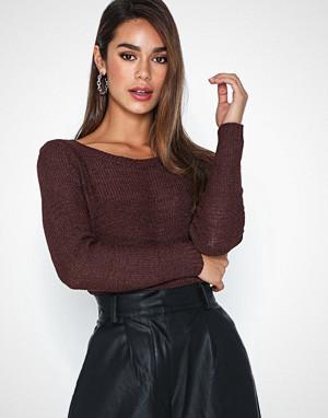 Only genser, onlGEENA Xo L/S Pullover Knt Noos Tawny Port