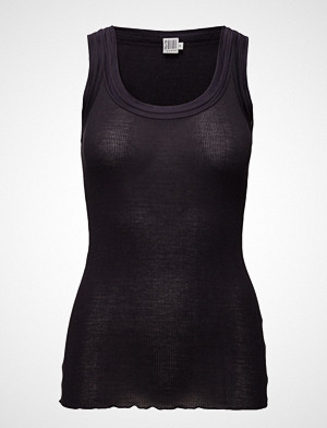 Saint Tropez singlet, O-N Rib Top W Wide Straps T-shirts & Tops Sleeveless Blå SAINT TROPEZ